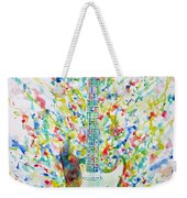 Fender Stratocaster - Watercolor Portrait Weekender Tote Bag