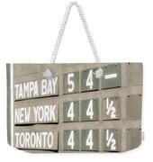 Fenway Park Al East Scoreboard Standings Weekender Tote Bag