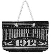 Fenway Park Boston Ma 1912 Sign Weekender Tote Bag