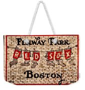 Fenway Park Boston Redsox Sign Weekender Tote Bag by Bill Cannon