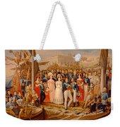 Ferdinand Vii Disembarking In The Port Of Santa Maria, 19th Century Oil On Canvas Weekender Tote Bag