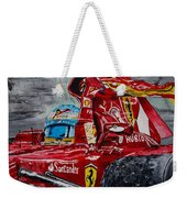 Fernando Alonso And Ferrari F10 Weekender Tote Bag