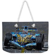 Fernando Alonso In Blue Weekender Tote Bag