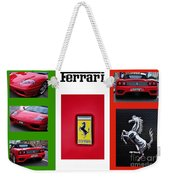 Ferrari Collage On Italian Flag Weekender Tote Bag