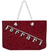 Ferrari Emblem In The Rain Weekender Tote Bag