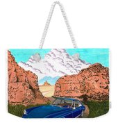 1969 Ferrari 365 G T C In The Mountains 1969 365 G T C Weekender Tote Bag