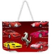 Ferrari Poster Art Weekender Tote Bag by Jack Pumphrey
