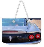 Ferrari Rear Emblem - Taillights -0089c Weekender Tote Bag
