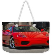 Ferrari Red Weekender Tote Bag