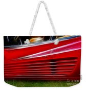 Ferrari Testarossa Red Weekender Tote Bag