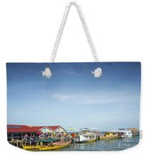 Ferries At Koh Rong Island Pier In Cambodiaferries At Koh Rong I Weekender Tote Bag