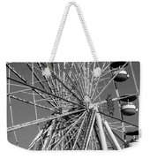 Ferris Wheel In Black And White Weekender Tote Bag