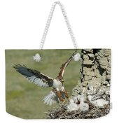 Ferruginous Hawk And Chicks Weekender Tote Bag