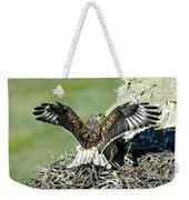 Ferruginous Hawk Male At Nest Weekender Tote Bag