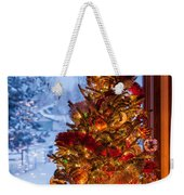 Festive Christmas Tree Weekender Tote Bag
