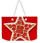 Festive Star Weekender Tote Bag