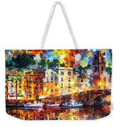 Few Boats - Palette Knife Oil Painting On Canvas By Leonid Afremov Weekender Tote Bag