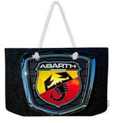 Fiat Abarth Emblem Weekender Tote Bag