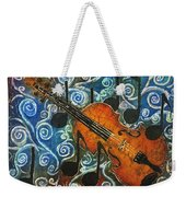 Fiddle 1 Weekender Tote Bag by Sue Duda