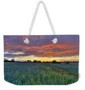 Field At Sunset Weekender Tote Bag