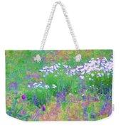 Field Of Flowers In Nature Weekender Tote Bag