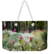 Field Of Flowers On A Rainy Day Weekender Tote Bag