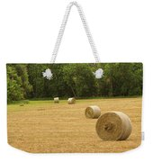 Field Of Freshly Baled Round Hay Bales Weekender Tote Bag by James BO  Insogna