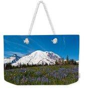 Field Of Lupines And Rainier Weekender Tote Bag