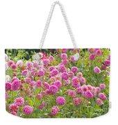 Field Of Pink Dahlias Weekender Tote Bag