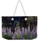 Field Of Summer Wildflowers Backlit Lupine  Weekender Tote Bag
