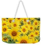 Field Of Sunflowers Helianthus Sp Weekender Tote Bag
