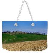 Field With Cypress Trees Weekender Tote Bag