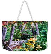 Fields And Fences Of Wawona In Yosemite National Park Weekender Tote Bag
