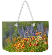 Fields Of Lavender And Orange Blanket Flowers Weekender Tote Bag