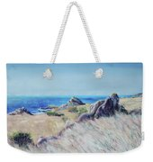 Fields With Rocks And Sea Weekender Tote Bag