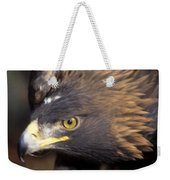 Fierce Golden Eagle Weekender Tote Bag