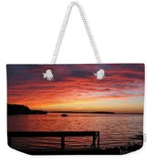 Fiery Afterglow Weekender Tote Bag