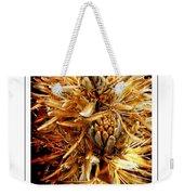 Fiery Floral Weekender Tote Bag