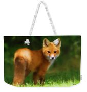Fiery Fox Weekender Tote Bag by Christina Rollo