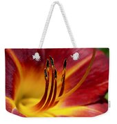 Fiery Lily Weekender Tote Bag by Rona Black
