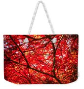 Fiery Maple Veins Weekender Tote Bag