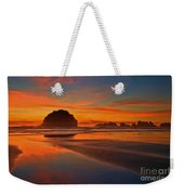 Fiery Ocean Stream Weekender Tote Bag by Adam Jewell