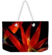 Fiery Red Bird Of Paradise Weekender Tote Bag