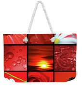 Fiery Red Weekender Tote Bag