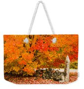 Fiery Rock Wall Weekender Tote Bag