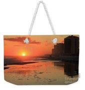 Fiery Seashore Weekender Tote Bag