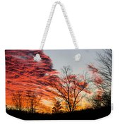 Fiery Sundown Weekender Tote Bag