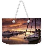 Fiery Sunset At Stuart Marina Weekender Tote Bag