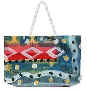 Fiesta 4- Colorful Pattern Painting Weekender Tote Bag