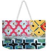 Fiesta 6- Colorful Pattern Painting Weekender Tote Bag by Linda Woods